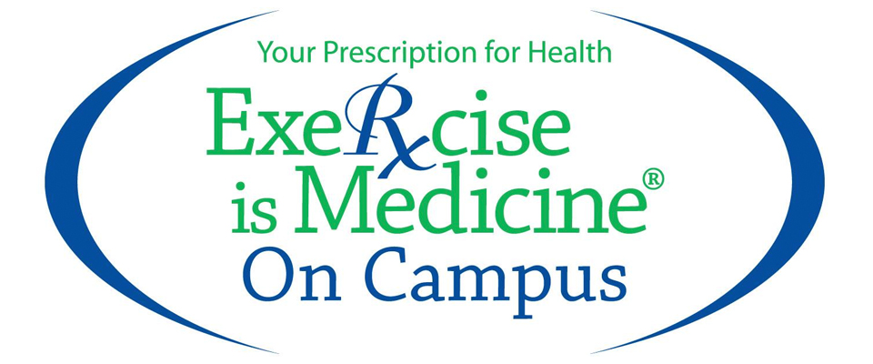 Your Prescription for Health. Exercise is Medicine on Campus Logo.